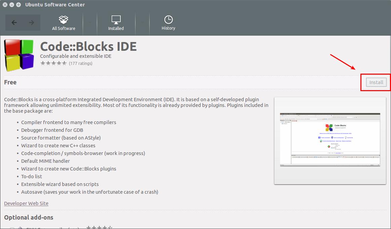 C I T Code Blocks L P Tr Nh C C Tr N Ubuntu Linux