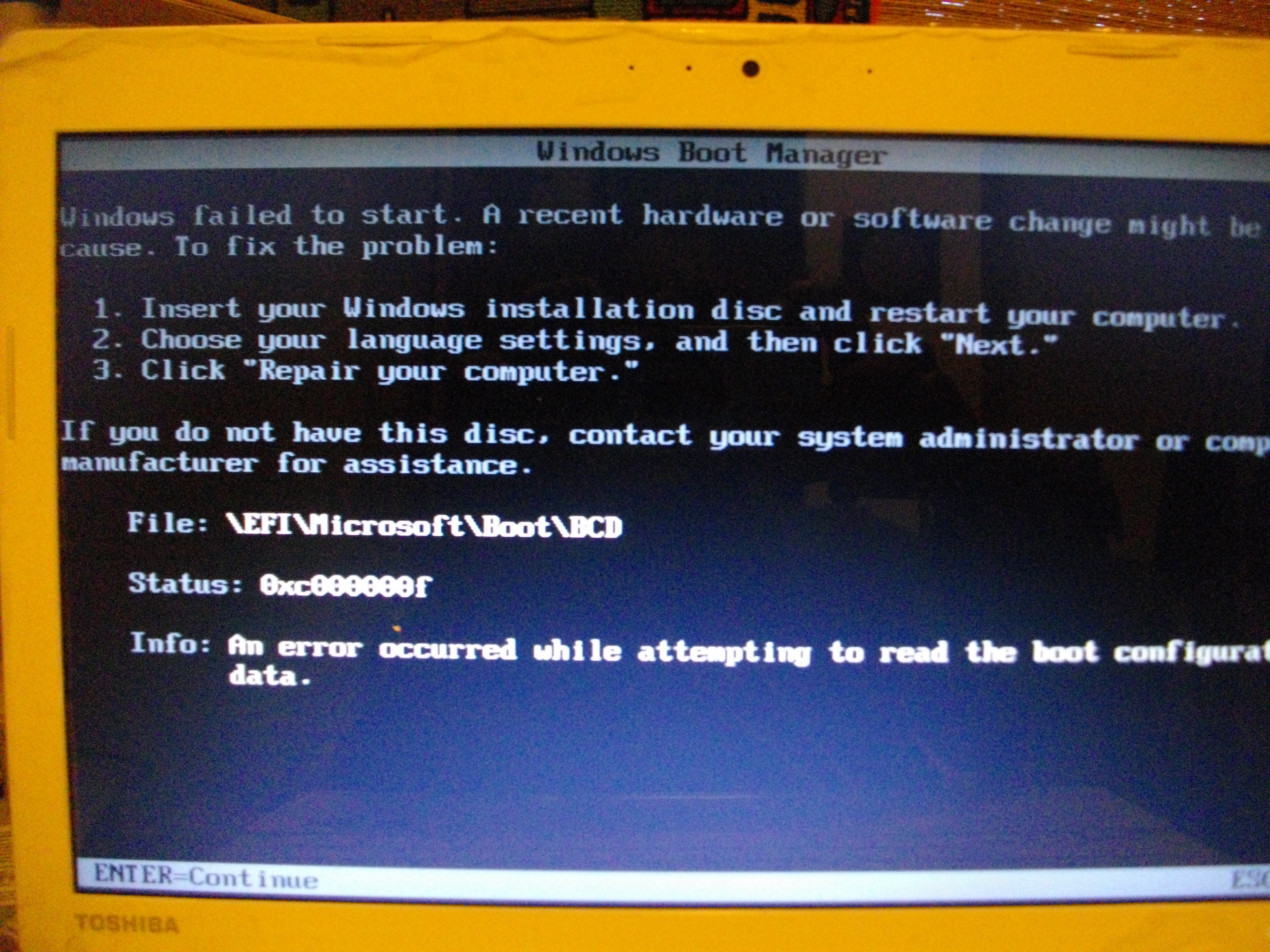 BCD System Store Settings for UEFI | Microsoft Docs