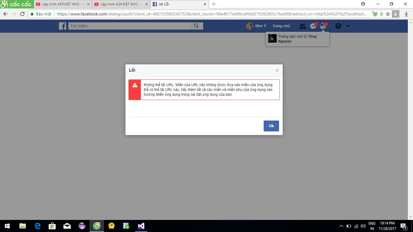 Lỗi login với facebook trong Asp.net MVC - programming ...